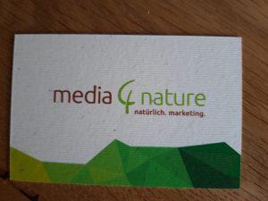 ökologische Visistenkarte media4nature Rückseite