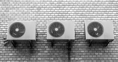 Klimaanlagen an einer Außenwand
